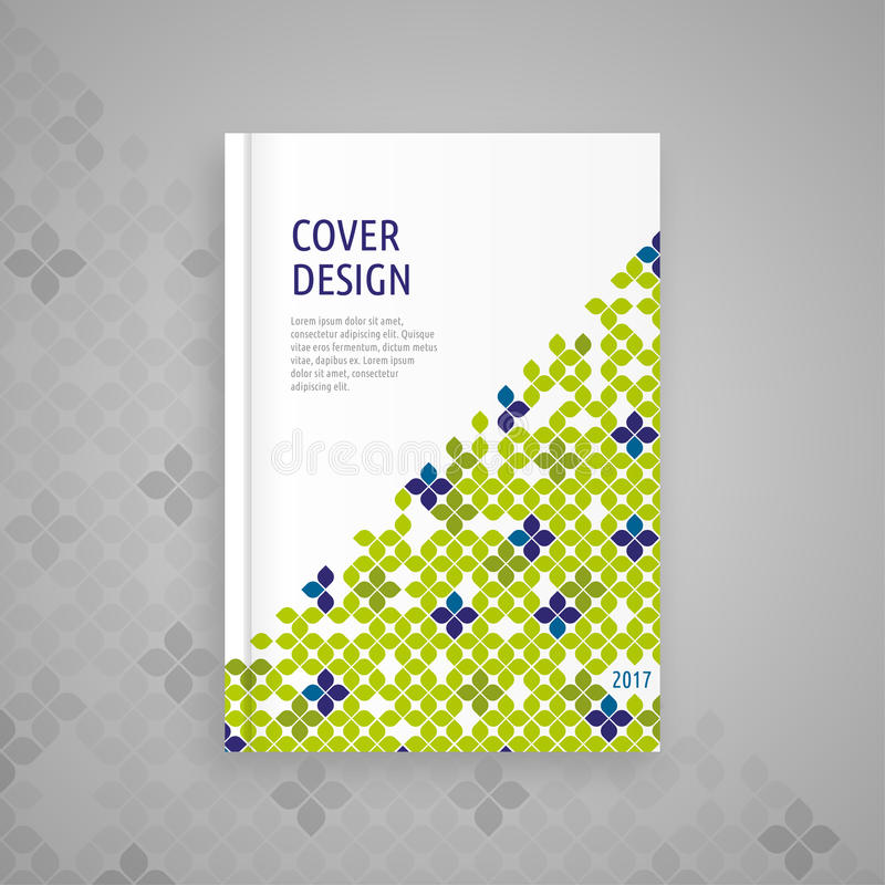 Template cover for book, abstract design royalty free stock images