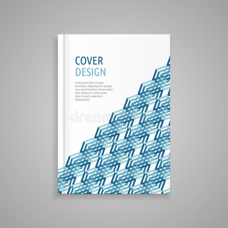 Template cover for book, abstract design royalty free stock photo