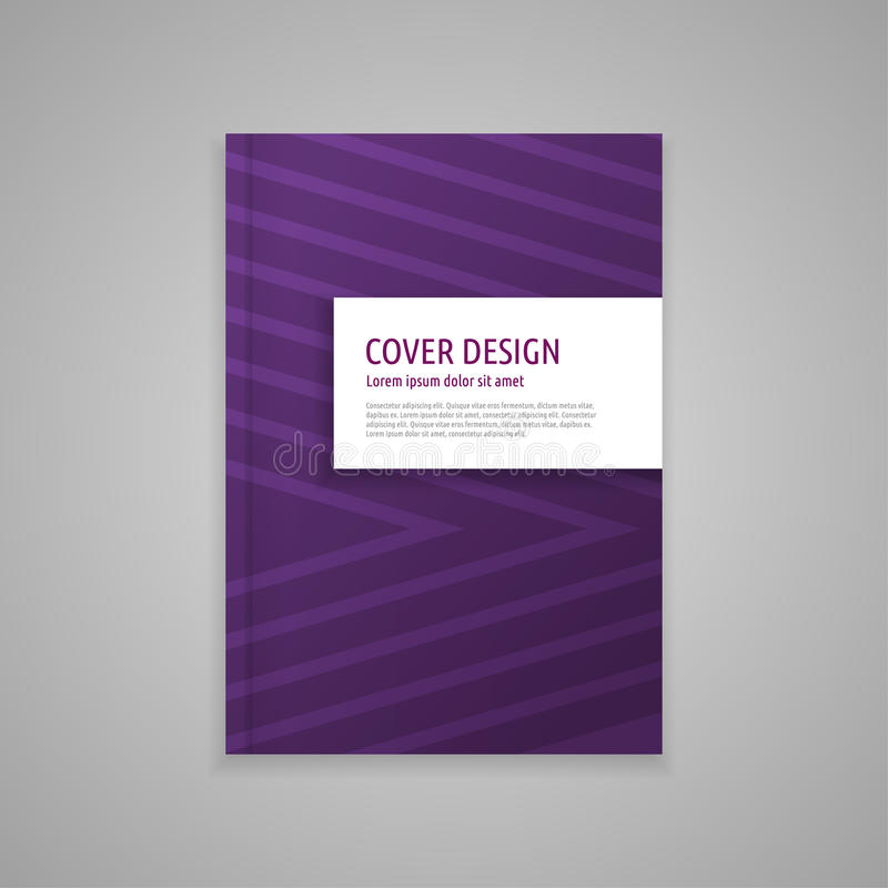 Template cover for book, abstract design royalty free stock photography