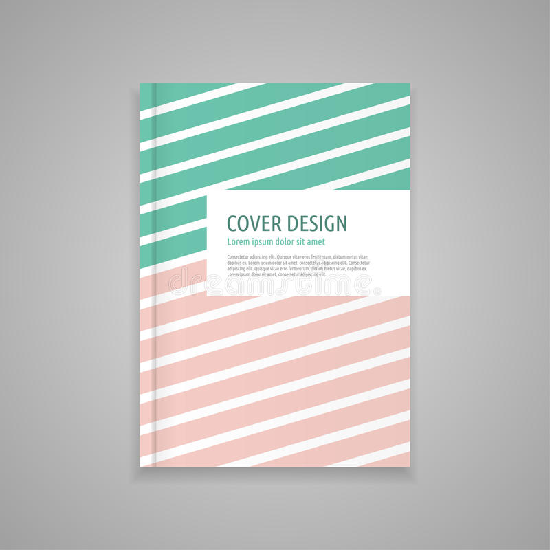 Template cover for book, abstract design stock image