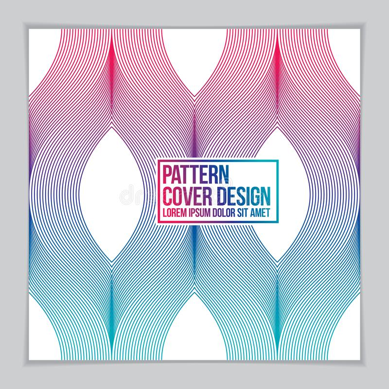 Template for Cover, Placard, Poster, Flyer and Banner Design. Cool geometric vector line background for your design. Minimalistic royalty free illustration