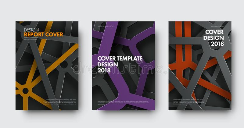 Template of covers in modern style with intersecting lines and c vector illustration