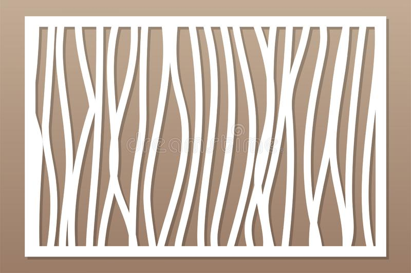 Template for cutting. Abstract line, geometric pattern. Laser cut. Set ratio 2:3. Vector illustration.  vector illustration
