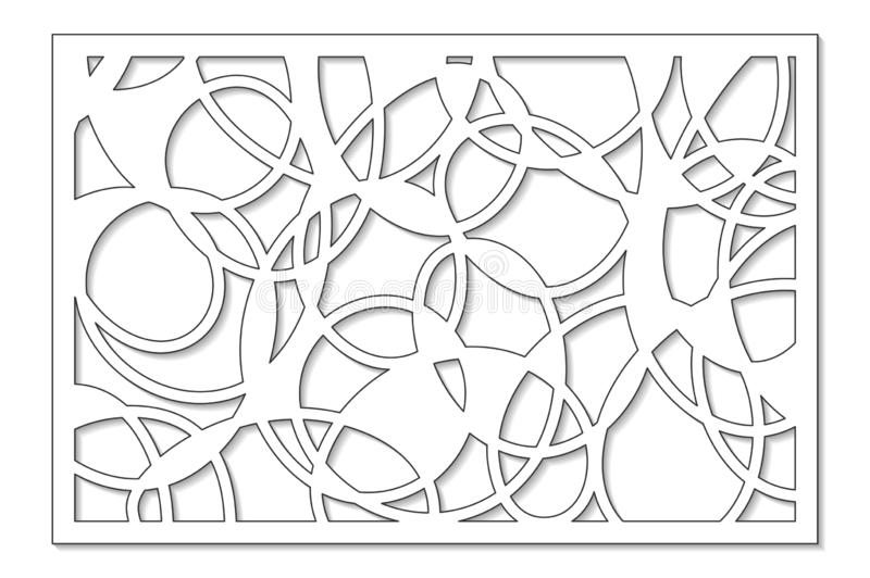 Template for cutting. Abstract line, geometric pattern. Laser cut. Set ratio 2:3. Vector illustration. Template for cutting. Abstract line, geometric pattern vector illustration
