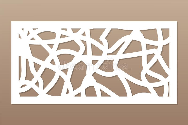 Template for cutting. Abstract line, geometric pattern. Laser cut. Set ratio 1:2. Vector illustration.  vector illustration