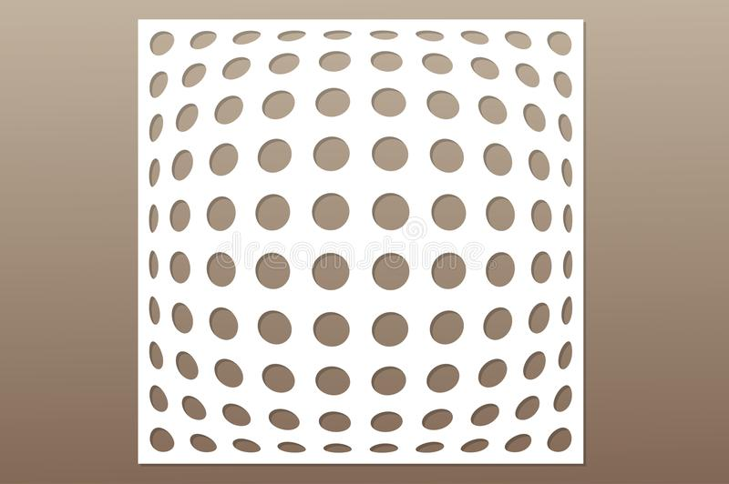 Template for cutting. Geometric circle pattern. Laser cut. Ratio 1:1. Vector illustration.  royalty free illustration