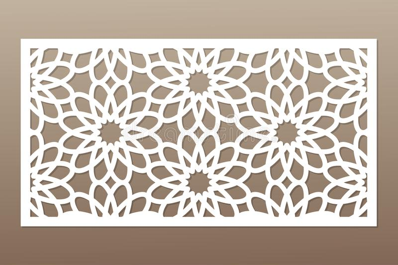 Download Template For Cutting Geometric Flower Pattern Laser Cut Ratio 12