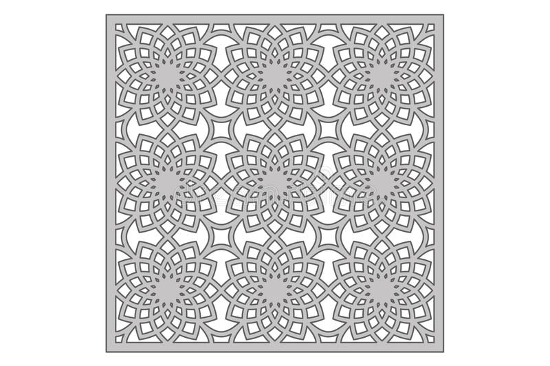 Template for cutting. Geometric flower pattern. Laser cut. Ratio 1:1. Vector illustration.  vector illustration