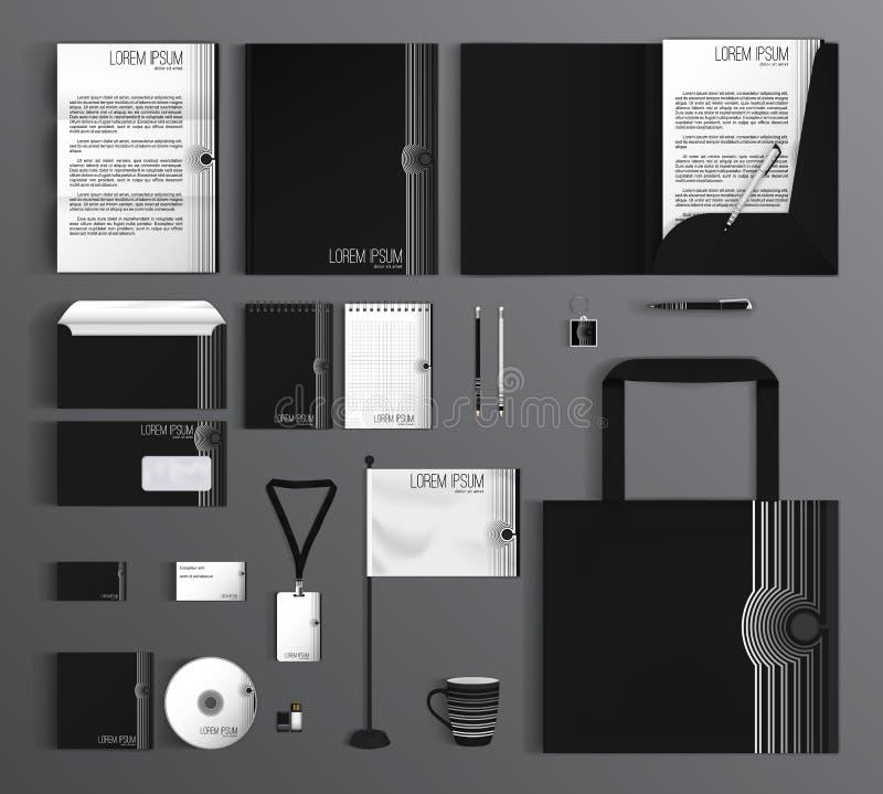 Template de corporation pour des dessin-modèles d'affaires Placez avec noir et blanc illustration libre de droits