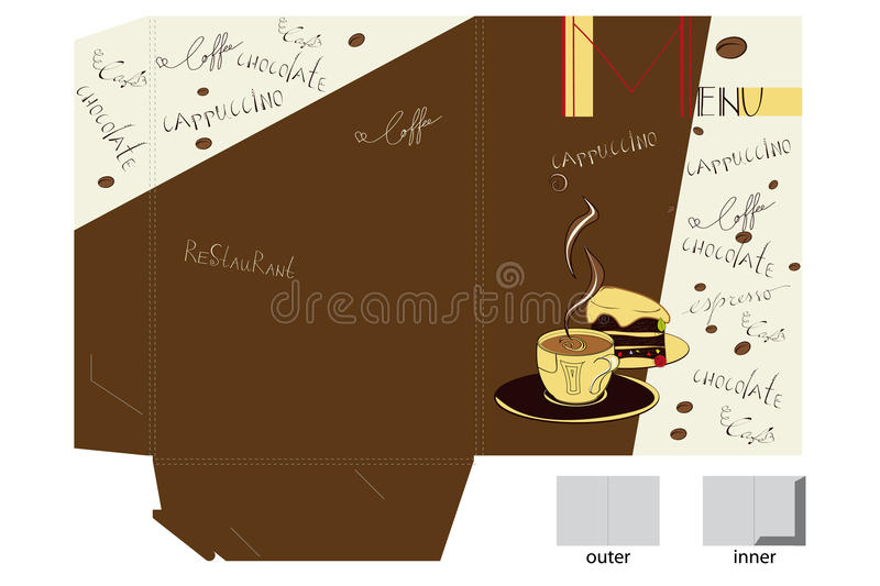Download Template For Decorative Folder Stock Vector - Image: 14506142