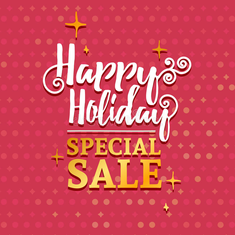 Template Design Banner For Christmas Sales. Happy Holidays Special ...