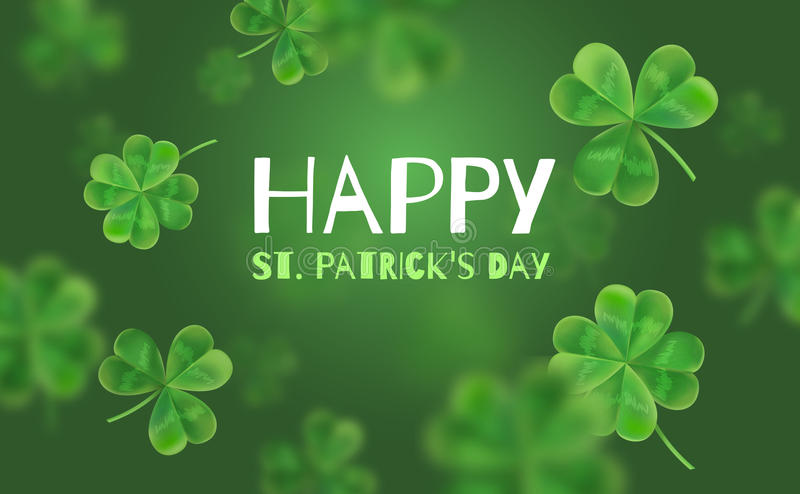 Template Design banner on St. Patrick's Day. stock illustration