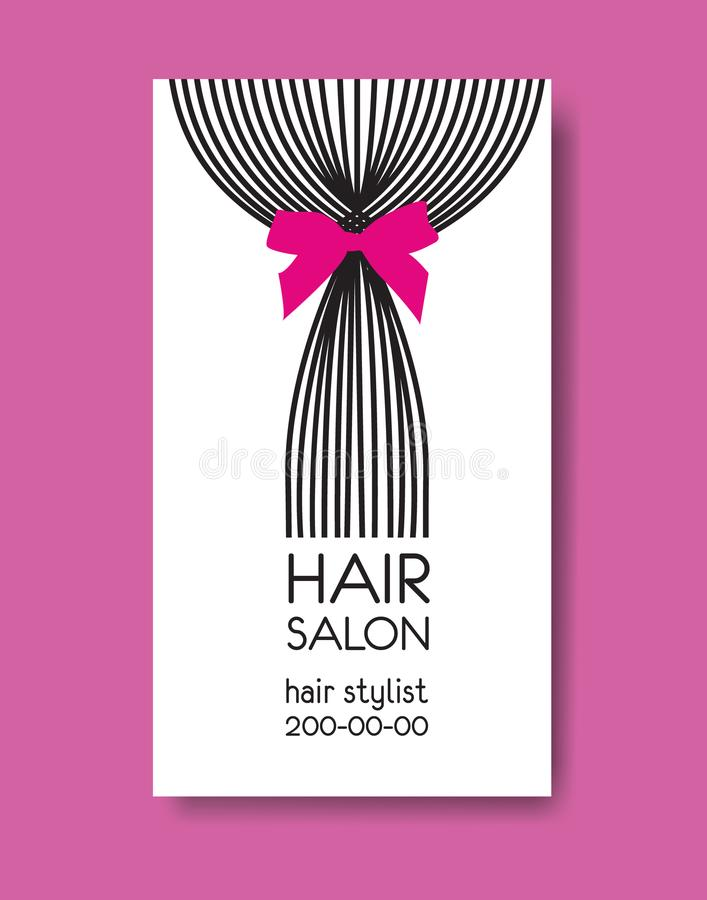 Template design business card with tail of long straight hair a download template design business card with tail of long straight hair a stock vector illustration colourmoves