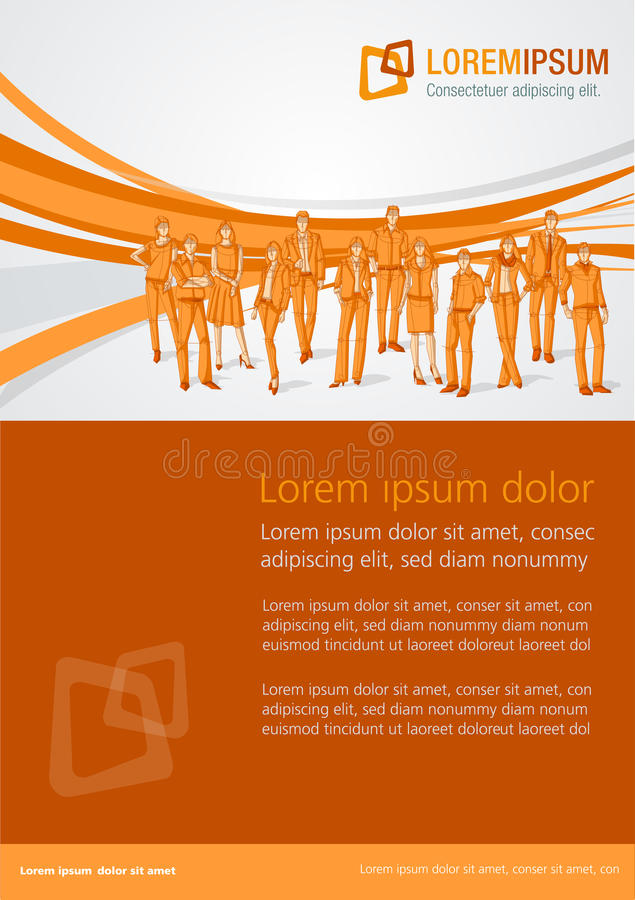 Template design with business people vector illustration