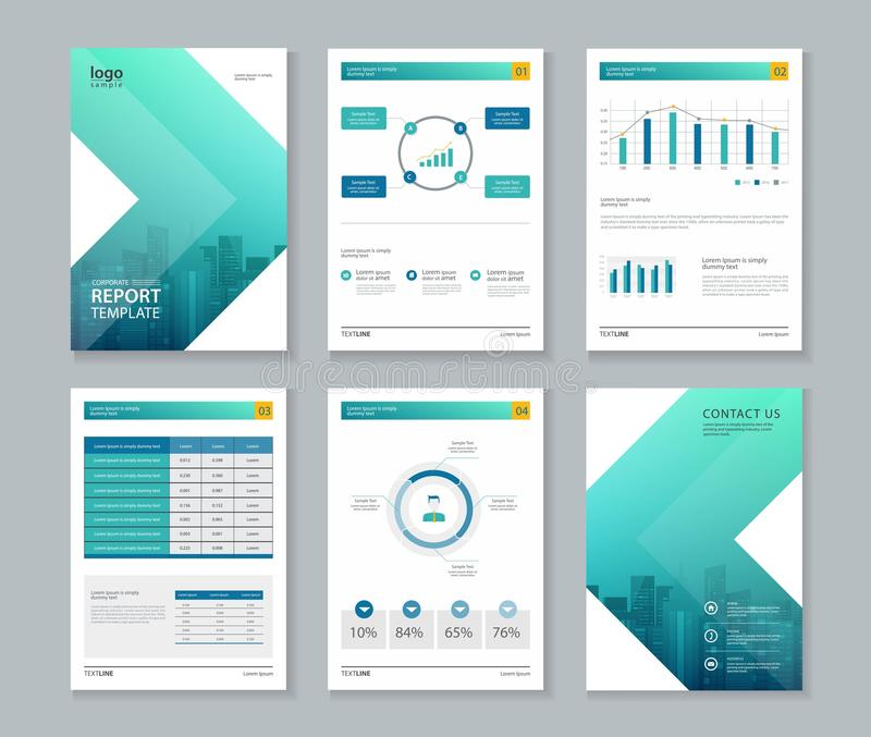 Template Design For Company Profile Annual Report  Brochure