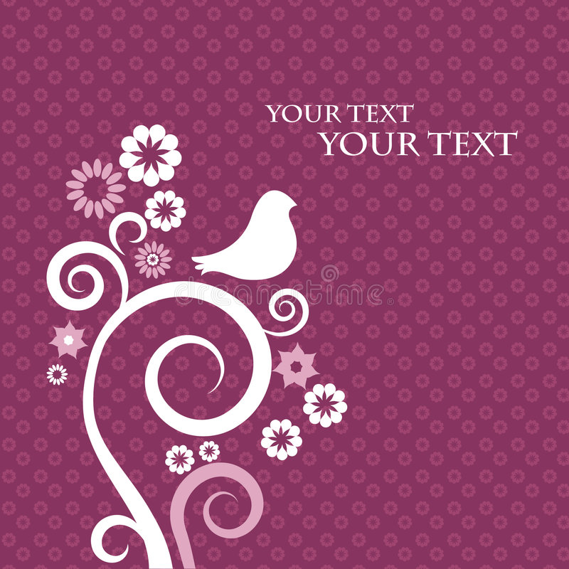 Template design for greeting card stock image