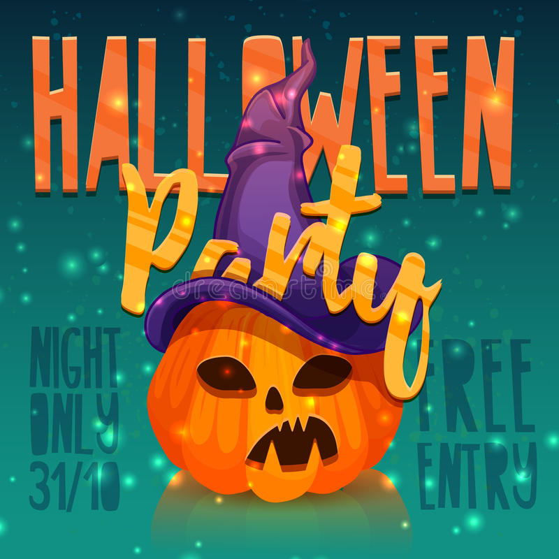 Download Template Design Greeting Card, Flyer, Poster For Happy Halloween  Party. Banner For