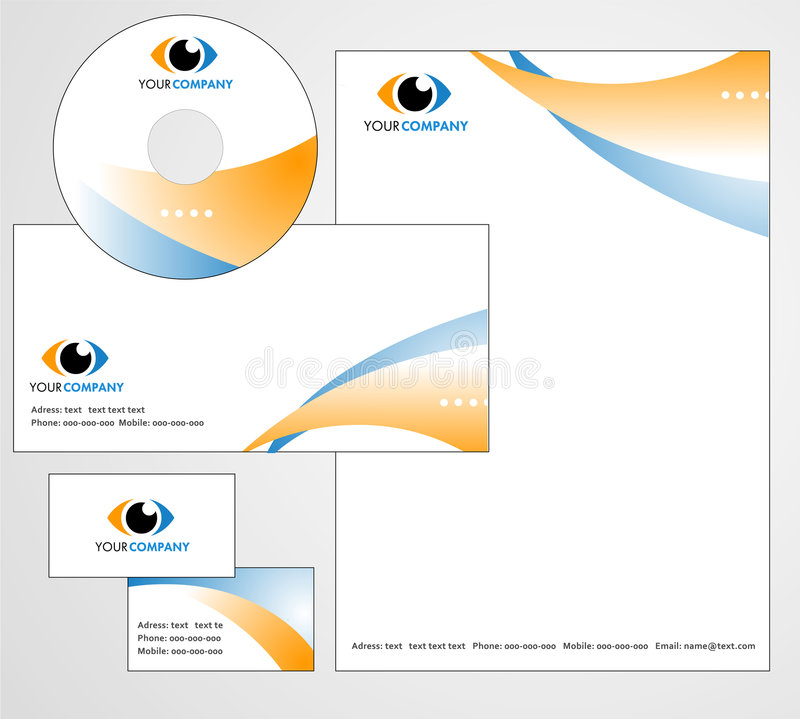 Template design of logo and letterhead stock vector illustration template design of logo letterhead banner header cd and business card vector file spiritdancerdesigns Image collections