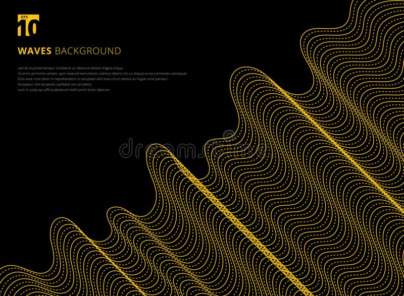 Template design modern abstract 3D yellow line pattern futuristic background vector illustration