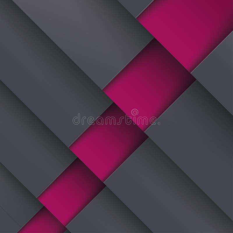 Template Design 5 Options Depth Black Orange PiAd. Template design with black and orange colors. Eps 10 file vector illustration