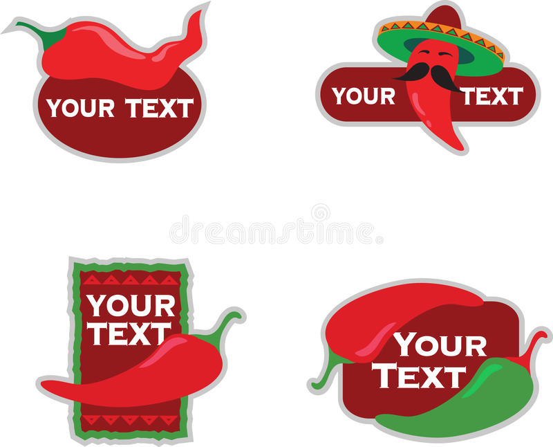 Download Template Designs Of Icons For Mexican Food Stock Photos - Image: 9463633