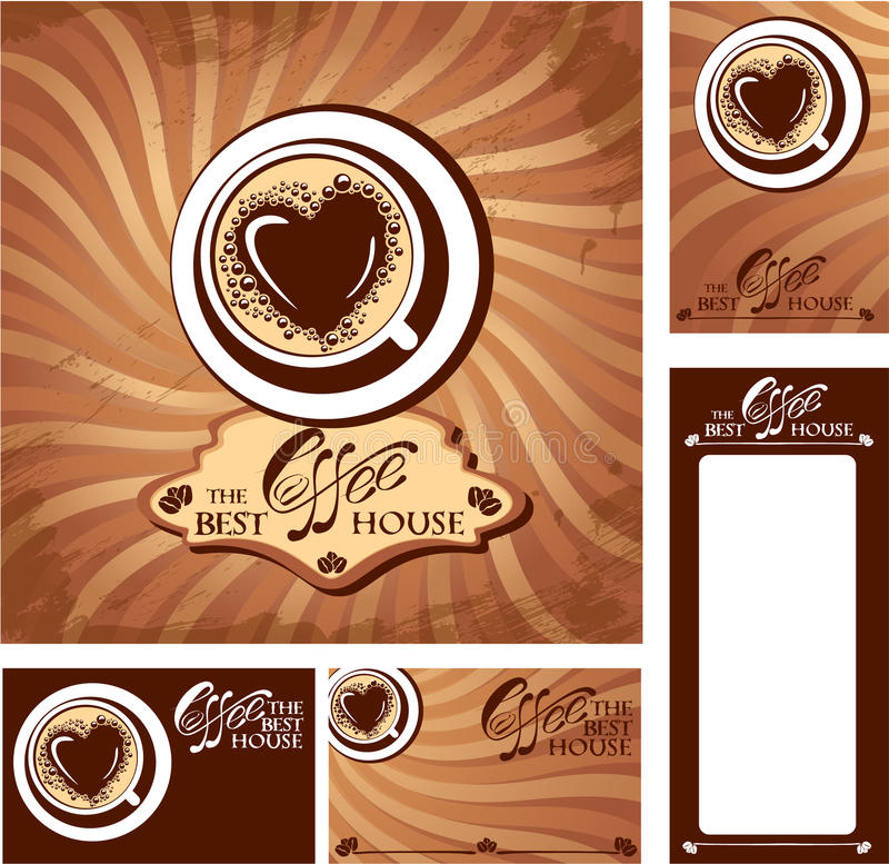 Template designs of menu and business cards for co stock vector download template designs of menu and business cards for co stock vector illustration of art reheart Image collections
