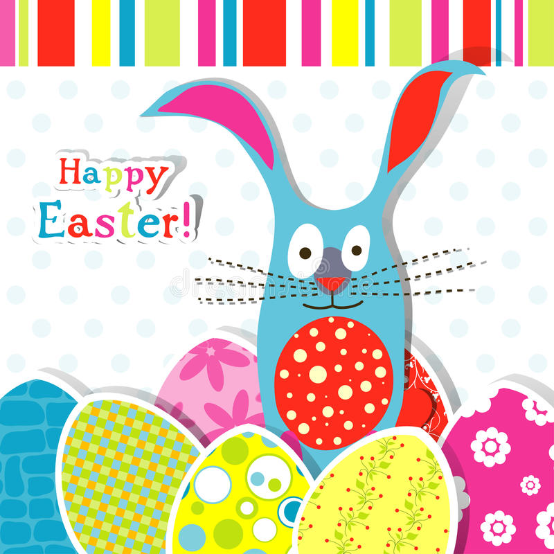 Template Easter Greeting Card Stock Vector  Illustration Of Stripe