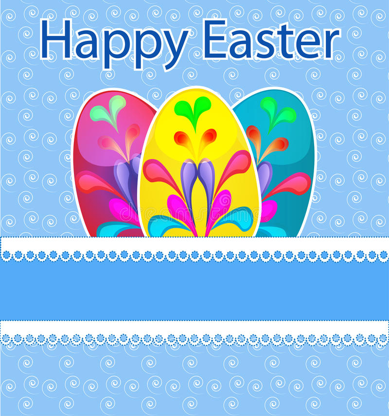 Download Template Easter Greeting Card Stock Illustration - Image: 23893438