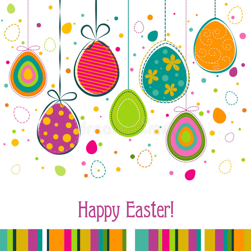 Template Easter Greeting Card Vector Stock Vector  Illustration Of