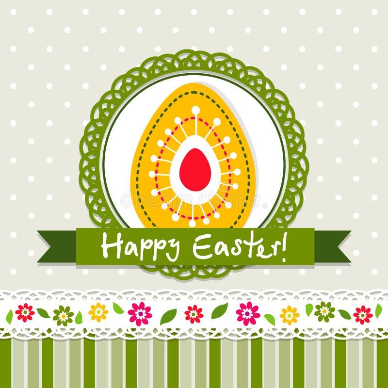Template Easter greeting card, vector. Illustration vector illustration