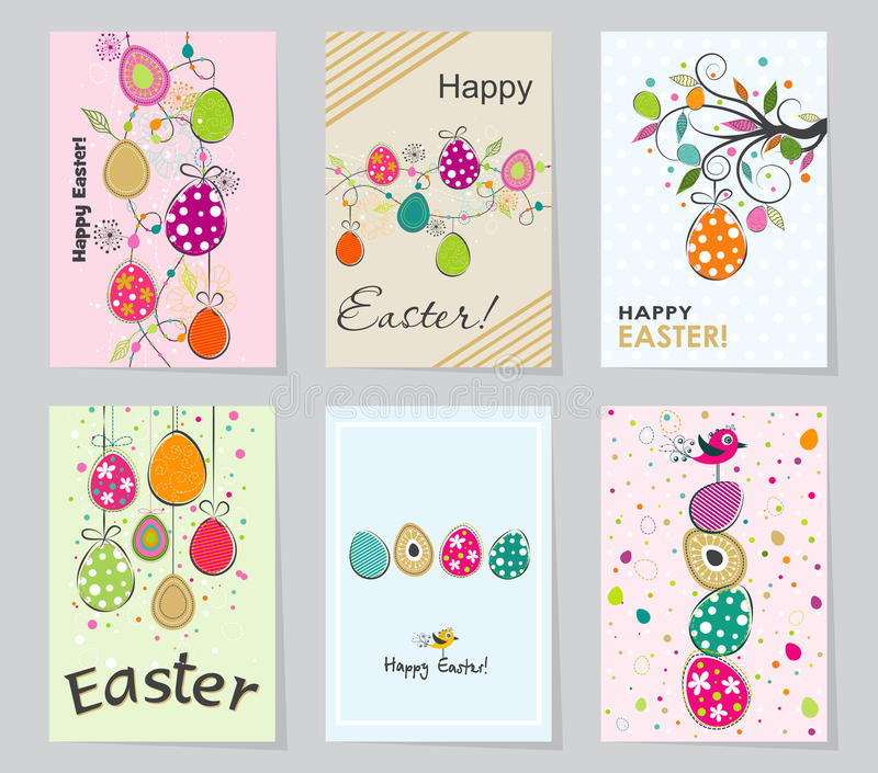 Template Easter Greeting Card Vector Illustration Stock Vector