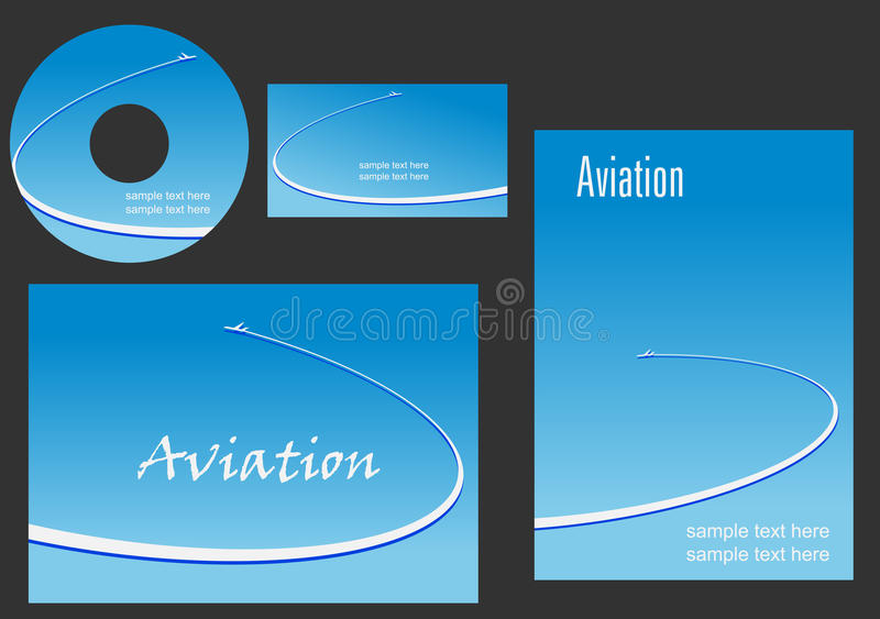 Template elements for Aviation design royalty free illustration