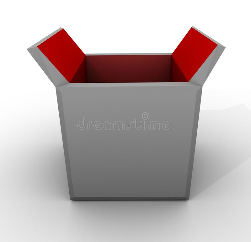 Download Template Empty Open Box Red Grey White Carton Stock Illustration - Image: 10407376