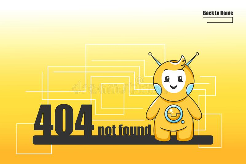 404 Error Page Template For Website  Illustration Of A
