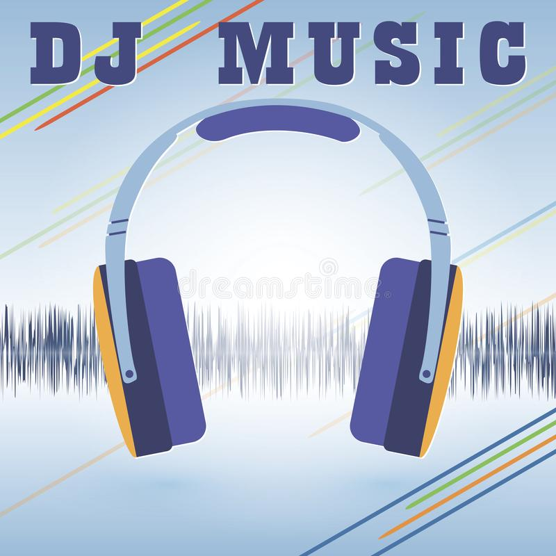 Template For A Flyer In A Nightclub Headphones On The Background Of