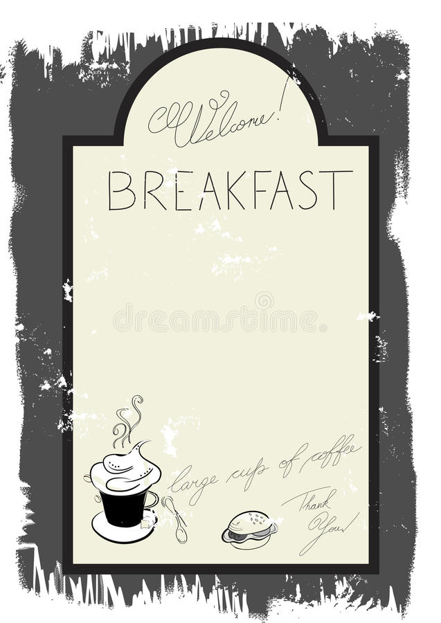 Free Template For Breakfast Menu Royalty Free Stock Photography - 15037347