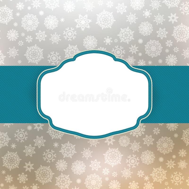 Template Frame Design For Christmas Card. EPS 8 Stock Photo