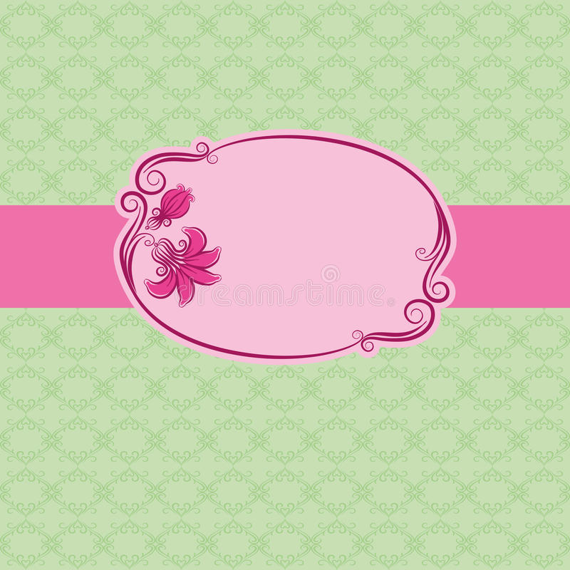 Download Template Frame Design For Greeting Card . Royalty Free Stock Photography - Image: 22432467