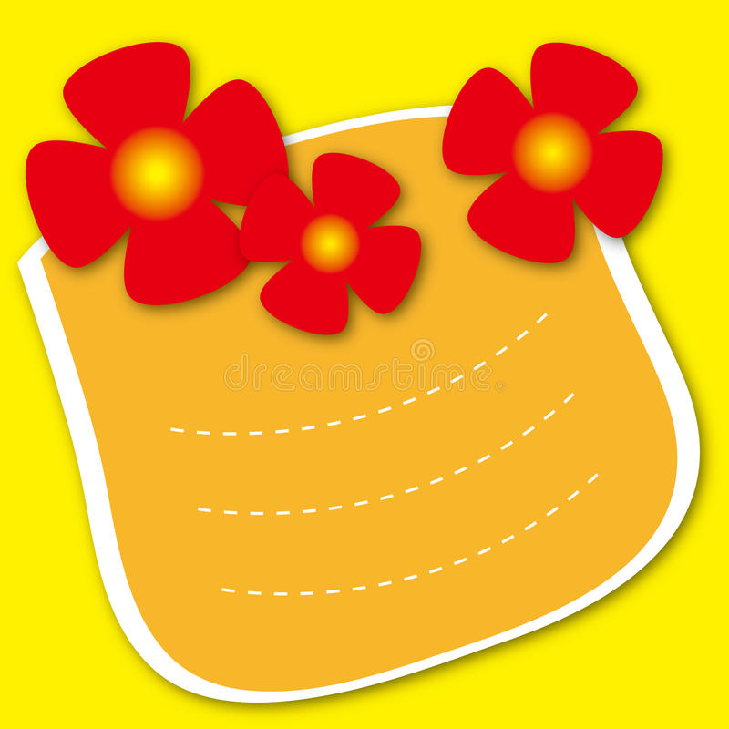 Download Template Frame Design For Greeting Card Stock Illustration - Image: 25433931