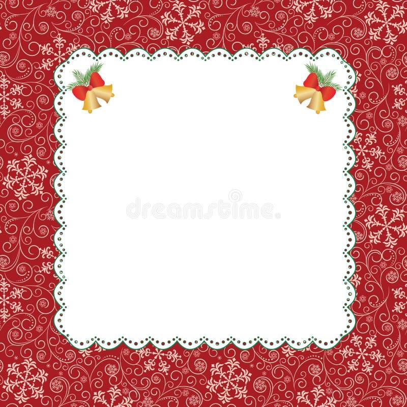 Template frame design for greeting card. Template frame design for christmas greeting card stock illustration