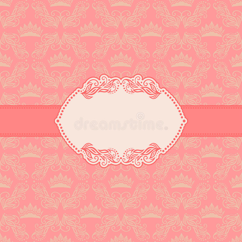 Template frame design for greeting card . royalty free illustration