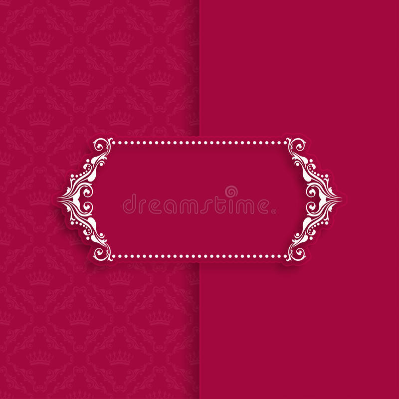 Template frame design for greeting card royalty free illustration