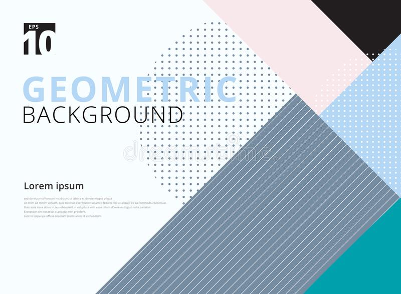 Template Geometric Pattern Trendy Abstract Background. Stock ...
