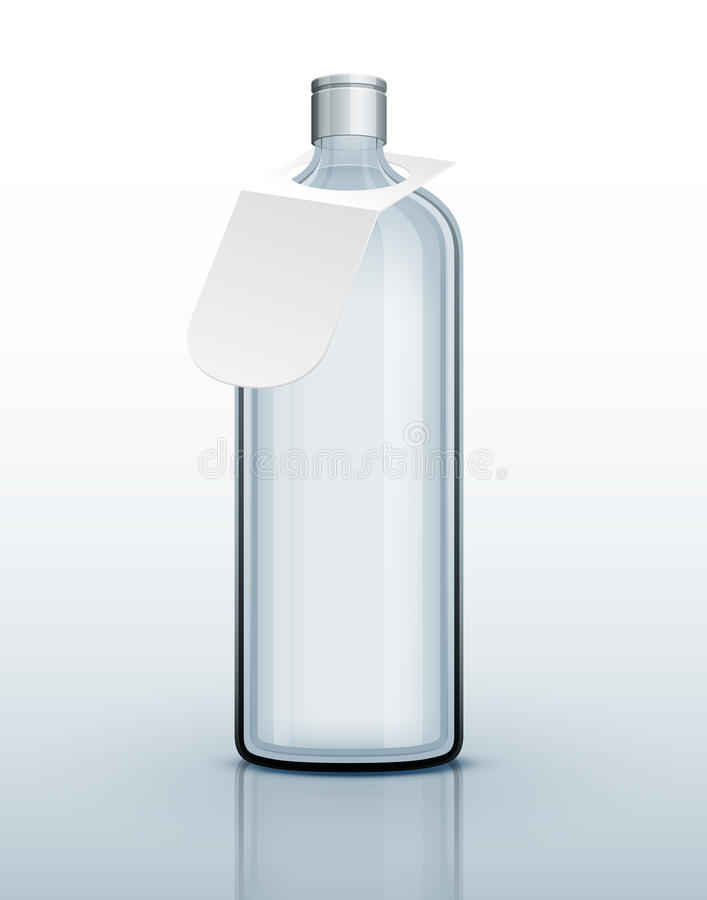 Template Of Glass Bottle For Hard Drink Royalty Free Stock Images