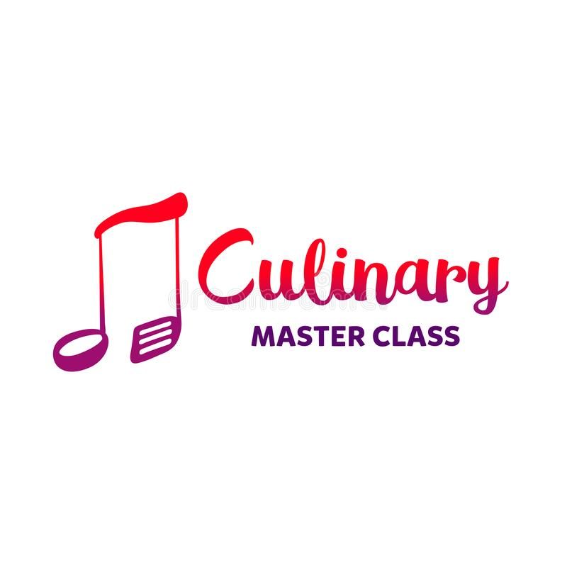 Template gourmet chef insignia. Freehand drawn badge design. Cul stock illustration