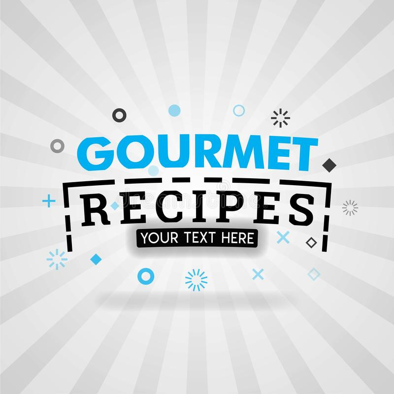 Template for gourmet food recipe blue poster. for promotion, advertising, marketing. Can be for textbook cover magazine, culinary. Websites, foodie site stock illustration