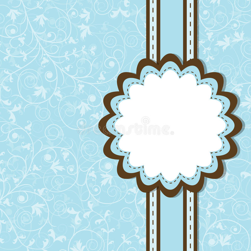 Download Template greeting card stock vector. Image of gift, floral - 24656758