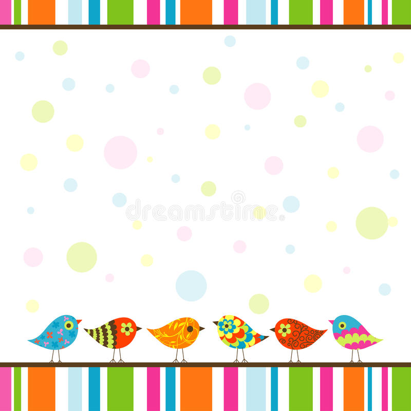 Download Template greeting card stock vector. Illustration of bird - 24778155