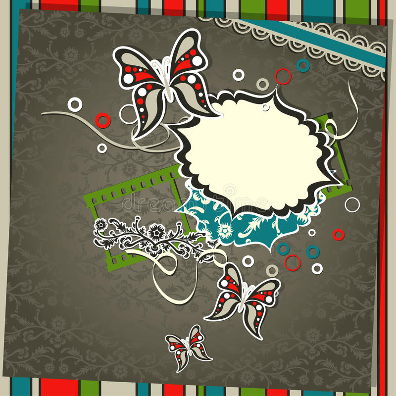 Download Template greeting card stock vector. Image of decorative - 24865703
