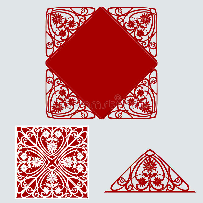 Template for greeting card vector illustration